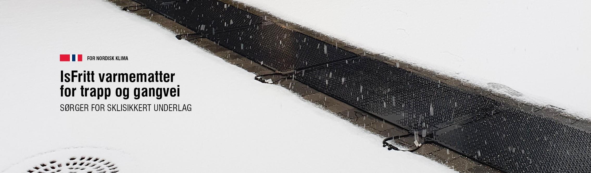 Isfritt varmematter smelter effektivt is og snø